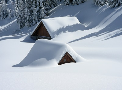 image of massachusettes homes covered in snow