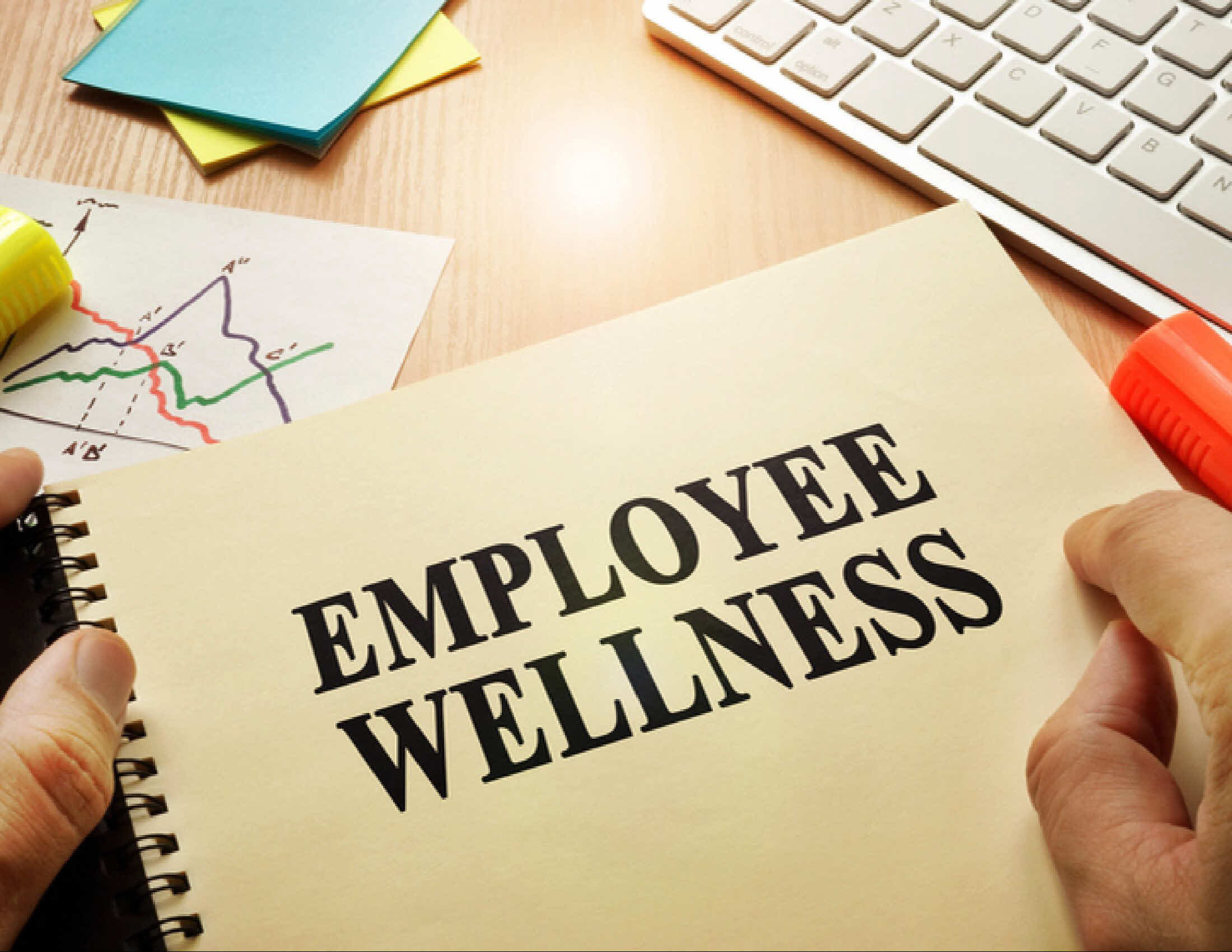 image of employee wellness handbook