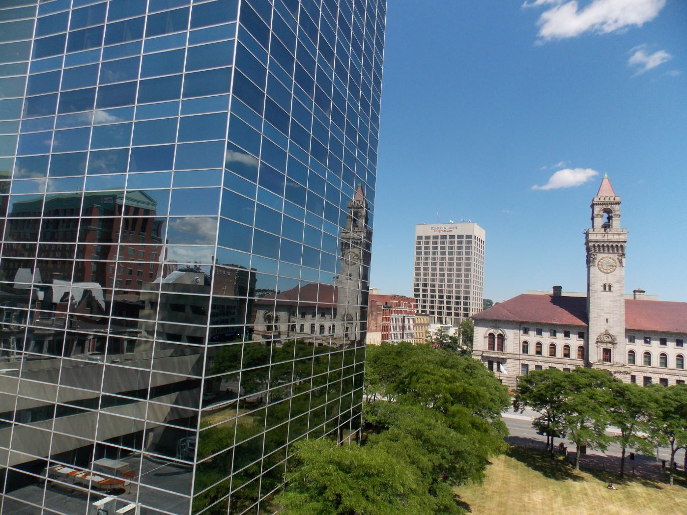 image of downtown worcester MA